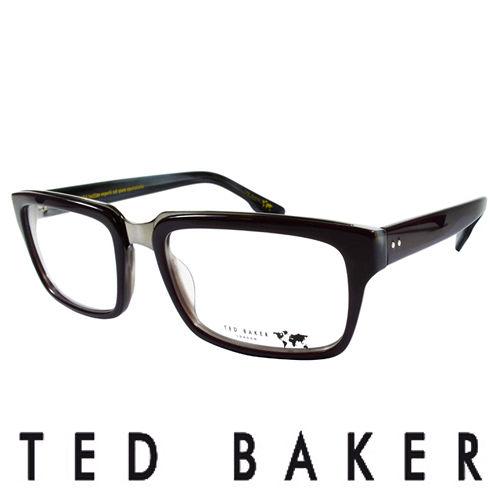 TED BAKER 英倫玩酷系列造型眼鏡(黑) TBG011-729