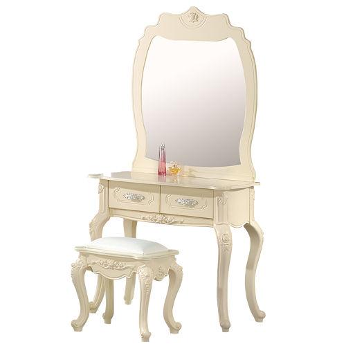 HAPPYHOME 羅曼蒂2.7尺鏡台001-4(含椅子)