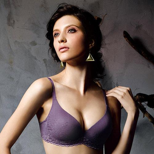 【華歌爾】新隱絲系列A罩杯無痕內衣(葡萄紫)