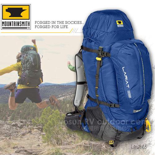 【美國 MountainSmith】 男 Lariat 65 Pack全方位重裝省力健行登山背包,自助旅行子母包/午夜藍