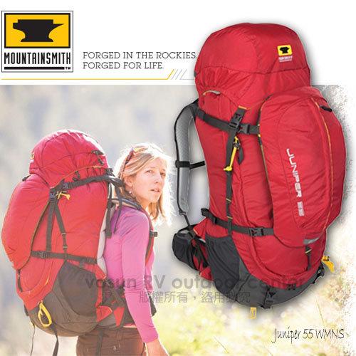 【美國 MountainSmith】 中性 Juniper 55 全方位重裝省力登山背包,自助旅行子母包 / 辣椒紅
