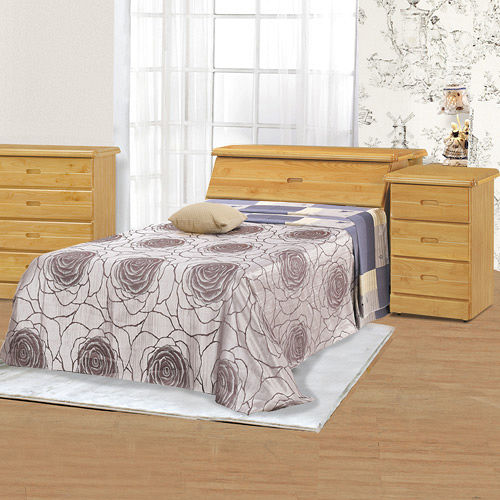 HAPPYHOME 赤陽色3.7尺加大單人床063-1+063-2(床頭+床底)