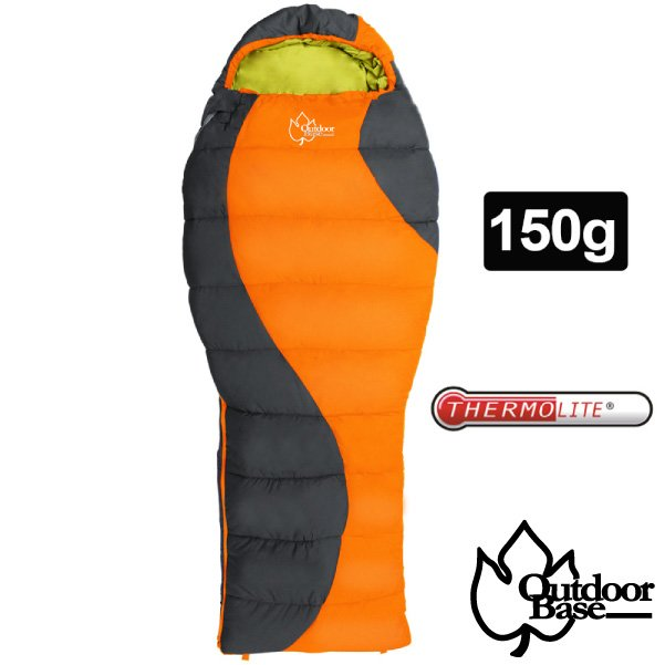 【Outdoorbasee/可左右合併】最新款 原野Thermolite化纖保暖睡袋_24448