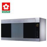 SAKURA櫻花 雙殺菌烘碗機80公分銀色 Q-7580SL - 北北基地區附配送及安裝