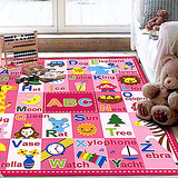 【范登伯格 】兒童成長學習地毯-ABC(粉)-100x130cm