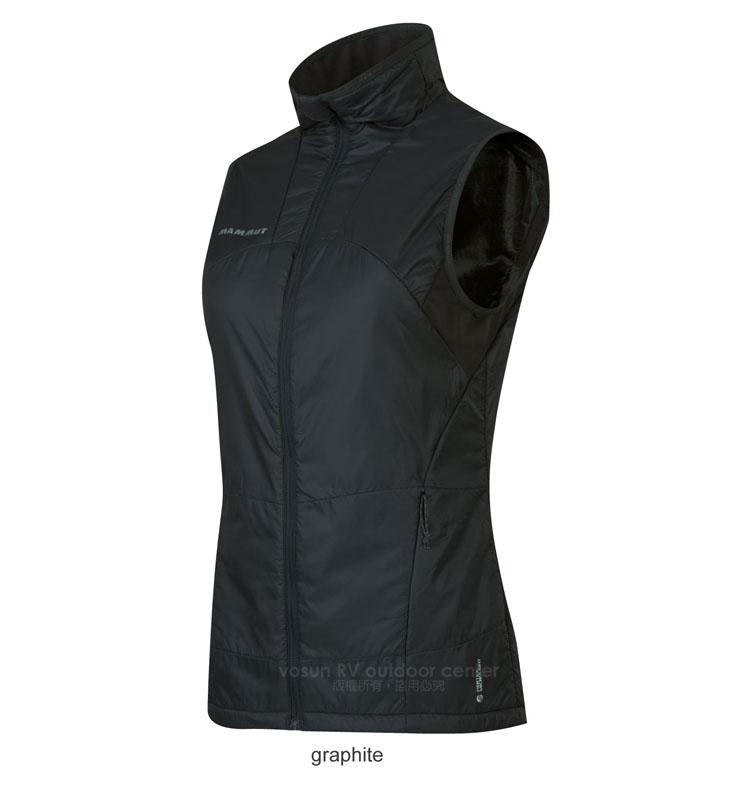【瑞士 MAMMUT 長毛象】Botnica Thermo Vest 女款 質輕舒適保暖背心/功能性防風抗水/1010-15850-0121 石墨