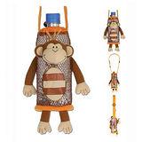 Stephen Joseph 兒童造型水壺袋-快樂小猴