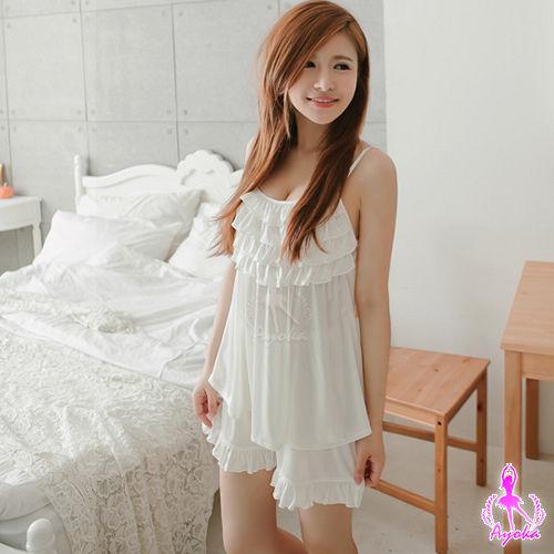 【Ayoka】純白舒適柔軟二件式睡衣