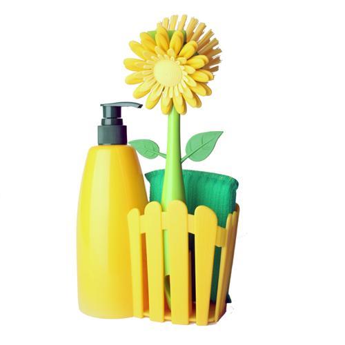西班牙Vigar維宜卡 心籬天竺葵 清潔刷組(黃色)