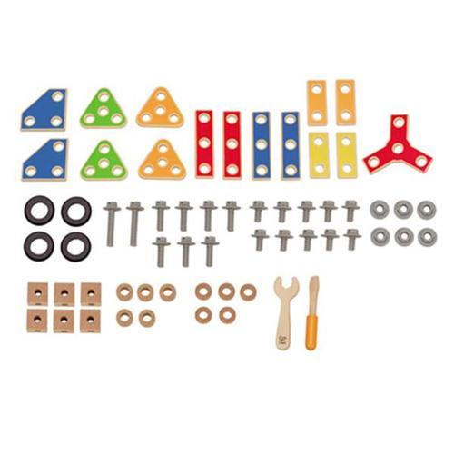 德國Hape愛傑卡-組裝建構系列工匠組(62PCs)