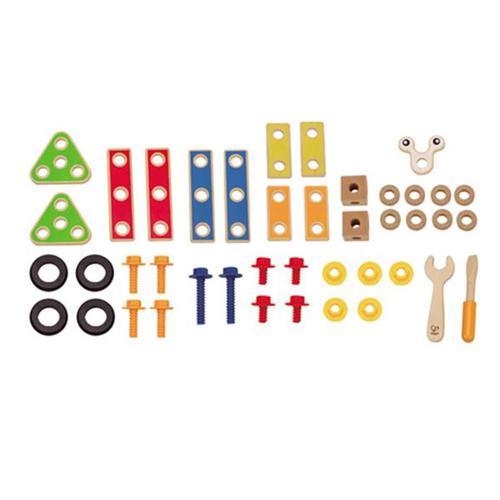 德國Hape愛傑卡-組裝建構系列 工匠組(42PCs)