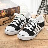 中國強 MIT 百搭休閒帆布鞋CH81(黑色)男鞋