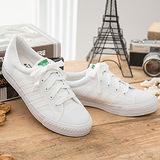 中國強 MIT 百搭休閒帆布鞋CH81(白色)女鞋