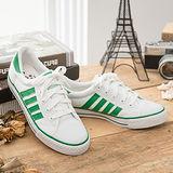 中國強 MIT 百搭休閒帆布鞋CH81(白綠)男鞋