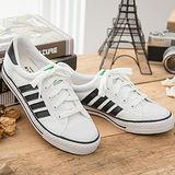 中國強 MIT 百搭休閒帆布鞋CH81(白黑)女鞋