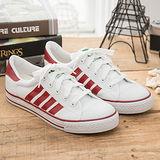 中國強 MIT 百搭休閒帆布鞋CH81(白紅)男鞋