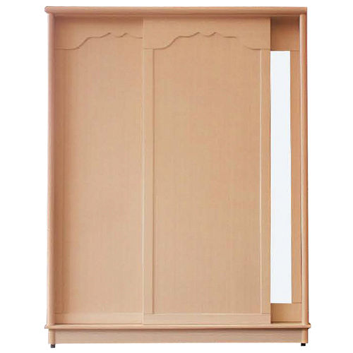 日式量販 白橡內層鏡拉門4X7衣櫃