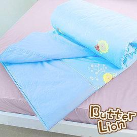 奶油獅 精梳純棉涼被 水藍