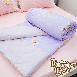 奶油獅 精梳純棉涼被 幻紫