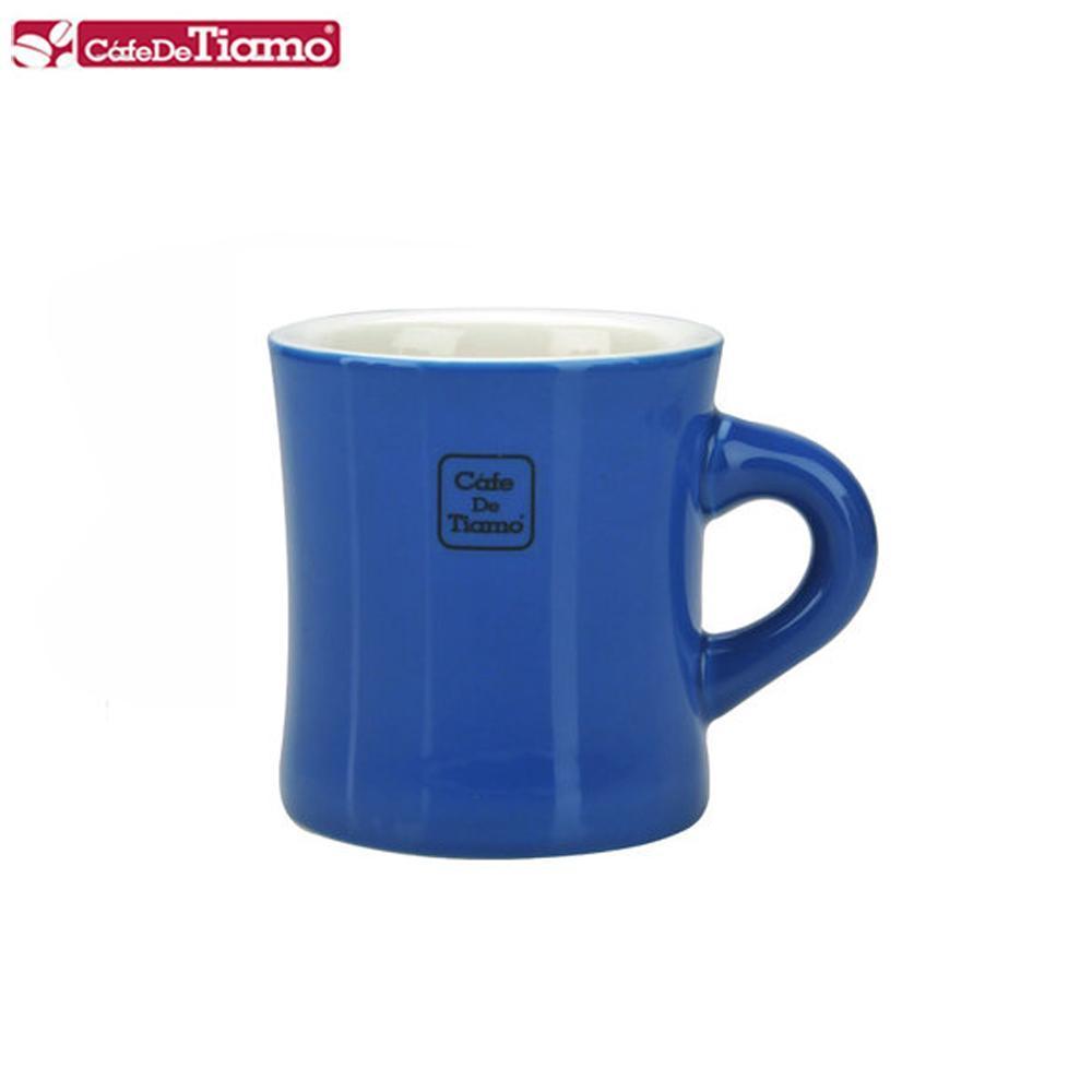 Tiamo 9號陶瓷馬克杯-200cc-深藍 (HG0856DC)
