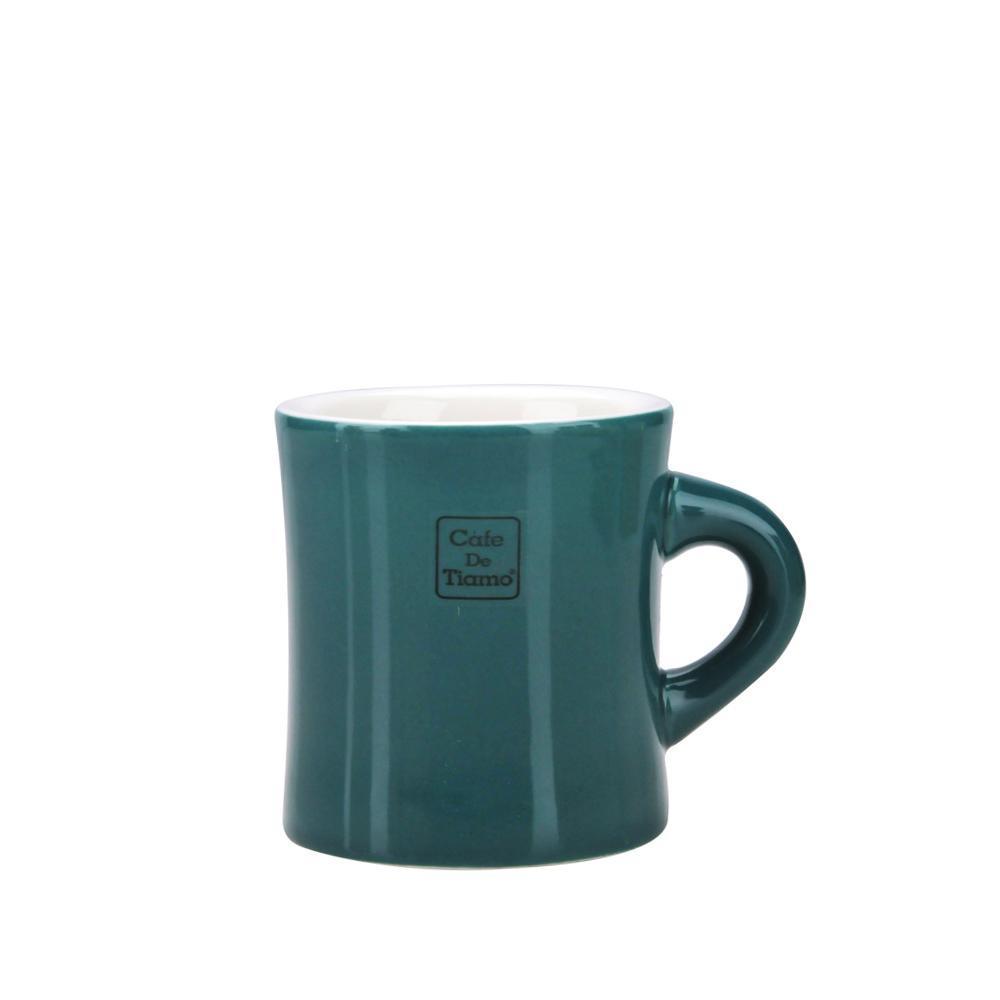 Tiamo 9號陶瓷馬克杯-200cc-深青灰 (HG0856DG)