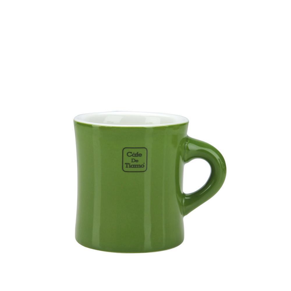 Tiamo 9號陶瓷馬克杯-200cc-深橄欖 (HG0856DO)