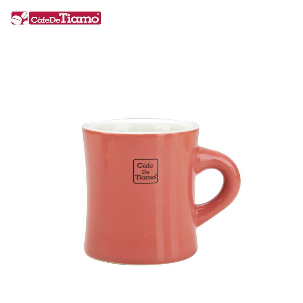 Tiamo 9號陶瓷馬克杯-200cc-珊瑚紅 (HG0856PM)