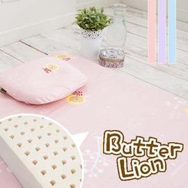 奶油獅 精梳純棉乳膠嬰兒床墊(小)+塑形圓枕 兩件組(三色可選)