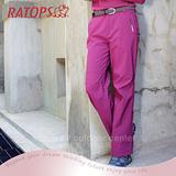 【瑞多仕-RATOPS】女 Softshell 防水透氣長褲.保暖長褲.休閒褲/ RAS738 暗紫紅色