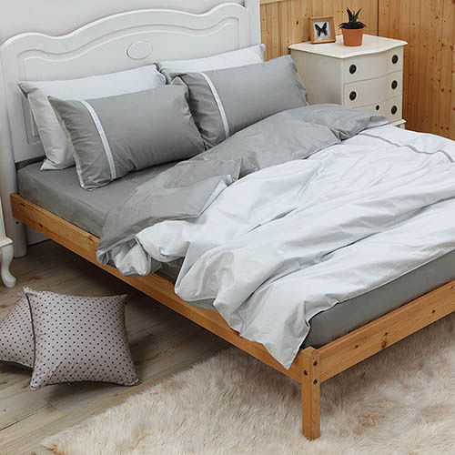 LITA麗塔 舒活系列-艾草 雙人四件式純棉薄床包枕套組
