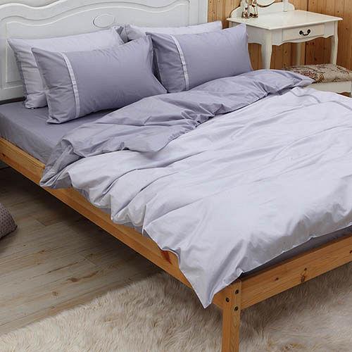 LITA麗塔 舒活系列-銀霞 雙人四件式純棉薄床包枕套組