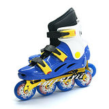 【D.L.D多輪多】鋁合金底座 專業競速直排輪 溜冰鞋 水藍白 FS-1