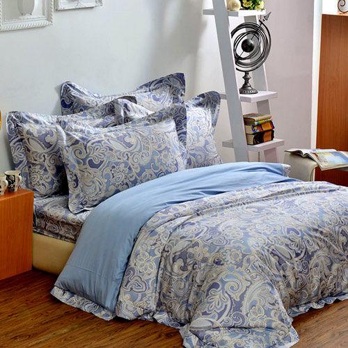 法國CASA BELLE《亞緹索菲》雙人四件式長絨棉被套床包組