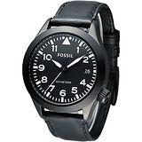 FOSSIL 暗黑勇士時尚大錶徑腕錶-黑(AM4515)