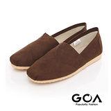 GOA 率性素面拼接輕便鞋-咖啡色