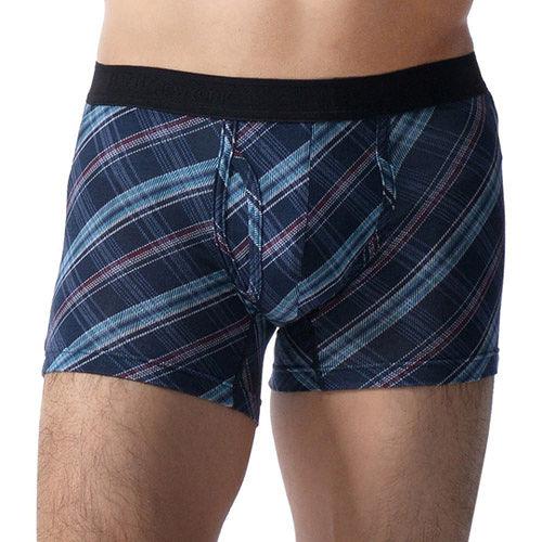 【BVD-快速到貨】NEW YORK 莫代爾系列 雙色斜格紋四角褲(藍格紋)
