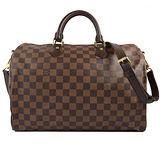 Louis Vuitton LV N41366 N41182 Speedy 35 棋盤格紋附背帶手提包 現貨