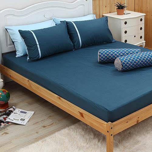 LITA麗塔 舒活系列 水黛 雙人三件式純棉薄床包枕套組