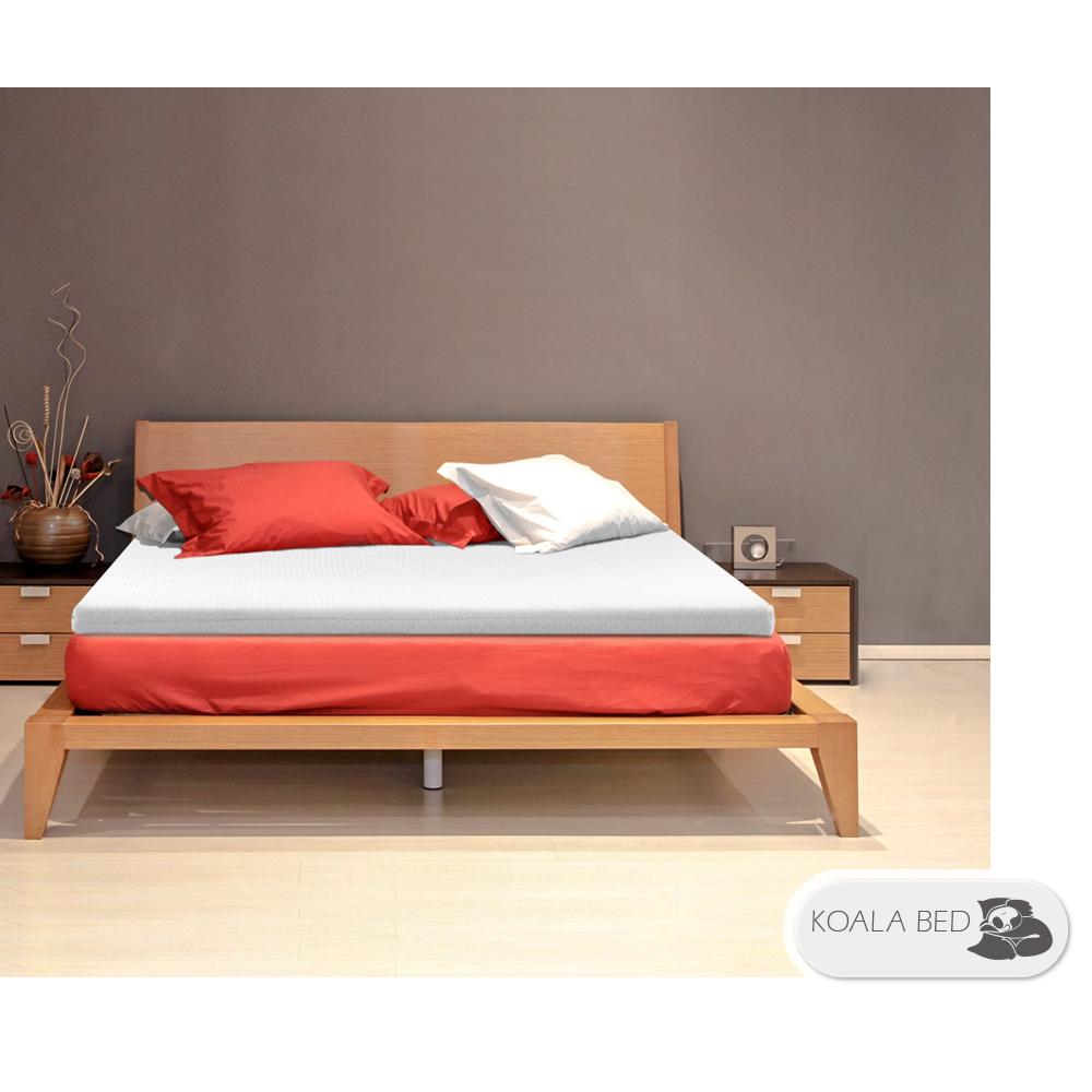§ Koala Bed § TENCEL 天絲床套雙膠機能床墊︱正反兩用/5cm乳膠/5cm竹炭記憶綿/標準單人/寬3尺