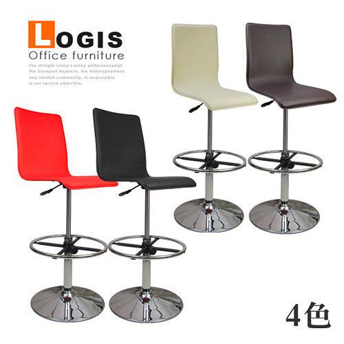 邏爵Logis 悠質超高馬鞍皮革事務椅 電腦椅 吧台椅 四色