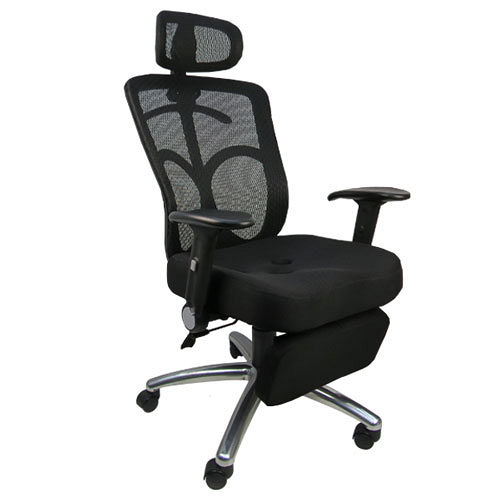《邏爵辦公家具》紳士3D工學坐臥兩用置腳台全網辦公椅/電腦椅