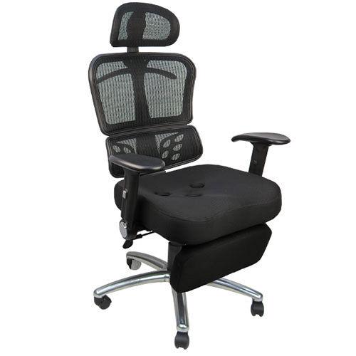 《邏爵辦公家具》時尚3D工學坐臥兩用專利置腳台/電腦椅/辦公椅