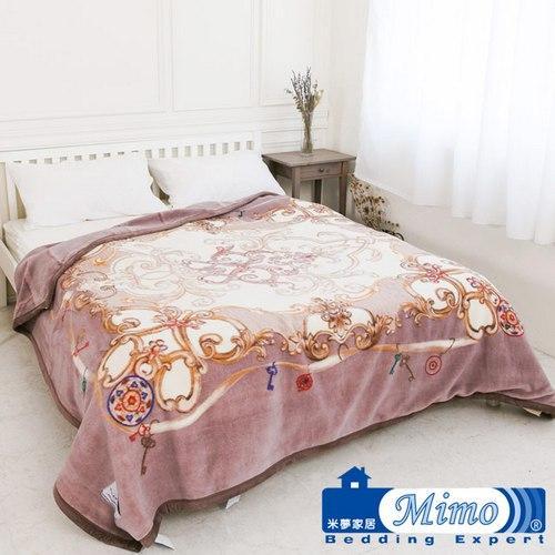 米夢家居 澳洲美麗諾拉舍爾雙層加厚羊毛毯 -紫芋情緣(200*230 4kg)
