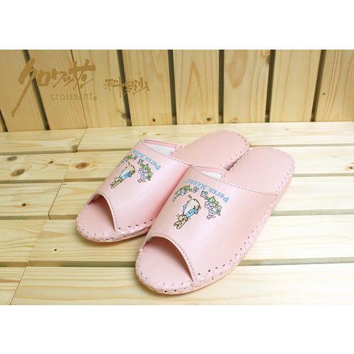 【クロワッサン科羅沙】Peter Rabbit 室內鞋 花園皮拖 淺粉27CM