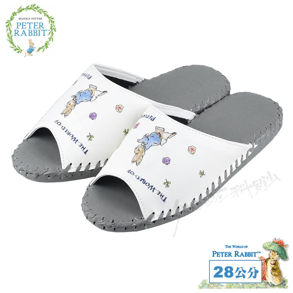 【クロワッサン科羅沙】Peter Rabbit 室內鞋 小花皮拖 桔26CM