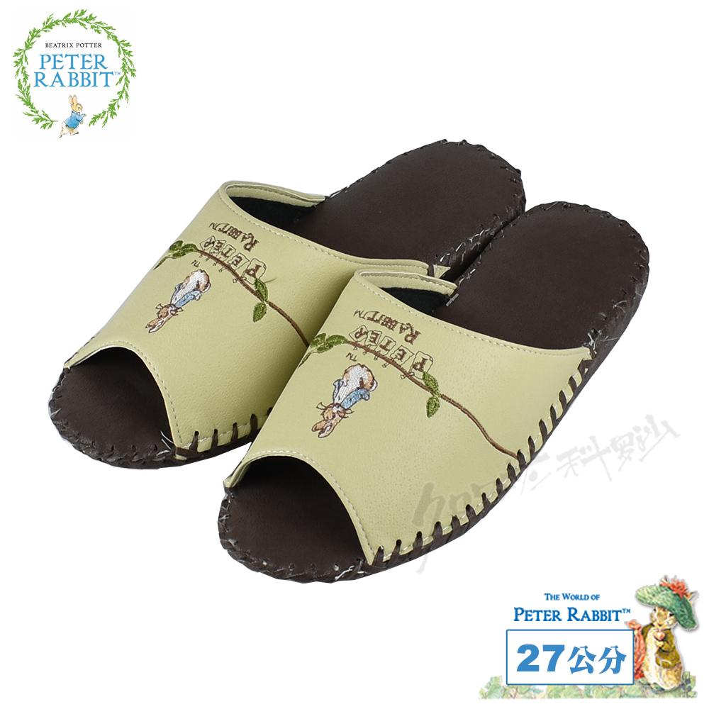 【クロワッサン科羅沙】Peter Rabbit 室內鞋 藤葉皮拖 棕27CM