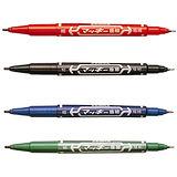 【斑馬 ZEBRA】MO-120-MC 雙頭 細/極細油性筆 (0.5mm+1.3mm)