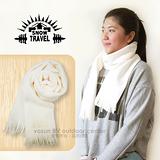 【SNOW TRAVEL】高級保暖透氣圍巾/下擺流蘇設計.高透氣.保暖/雪白色 VO-30