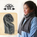 【SNOW TRAVEL】高級保暖透氣圍巾/下擺流蘇設計.高透氣.保暖/時尚灰 VO-30