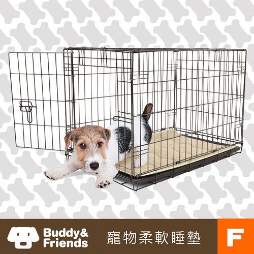 ~Buddy Friends~寵物柔軟睡墊 亞麻色 F